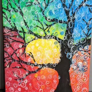 Canvas - Rainbow Tree