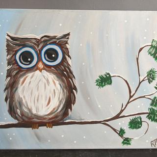 Canvas - Winter Owl
