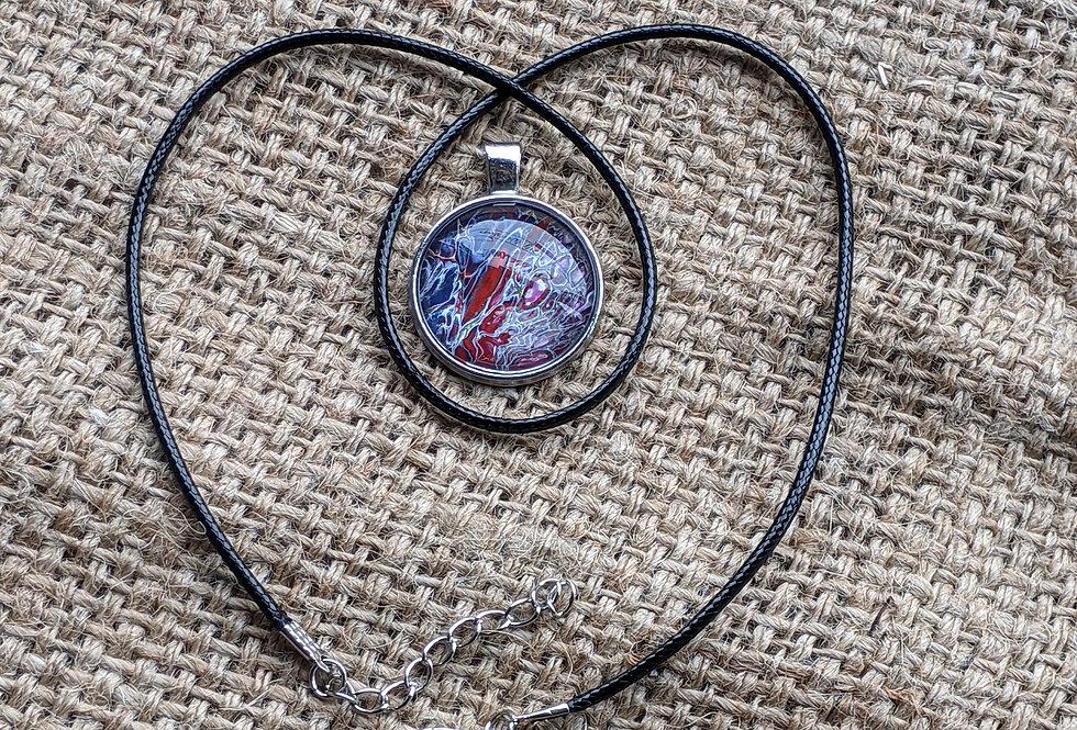 Paint Pour Necklace (#26)