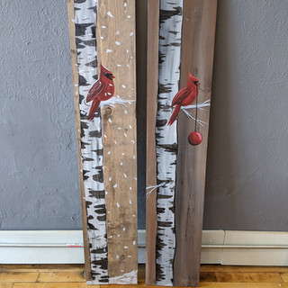 Porch Sign - Cardinal in Birch Tree