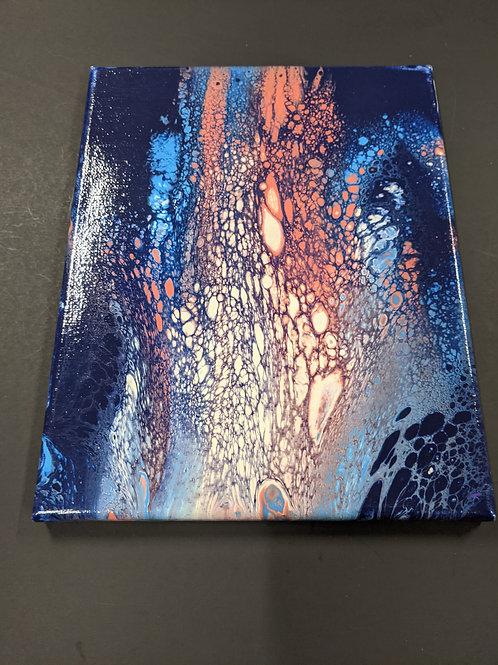 Paint Pour 8x10 canvas