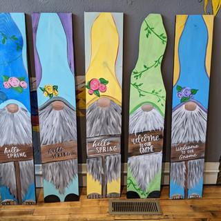 Porch Sign - Spring Gnomes