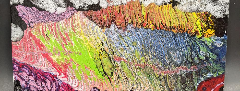 Paint Pour 10x20 canvas