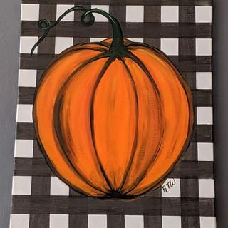 Canvas - Pumpkin buffalo plaid