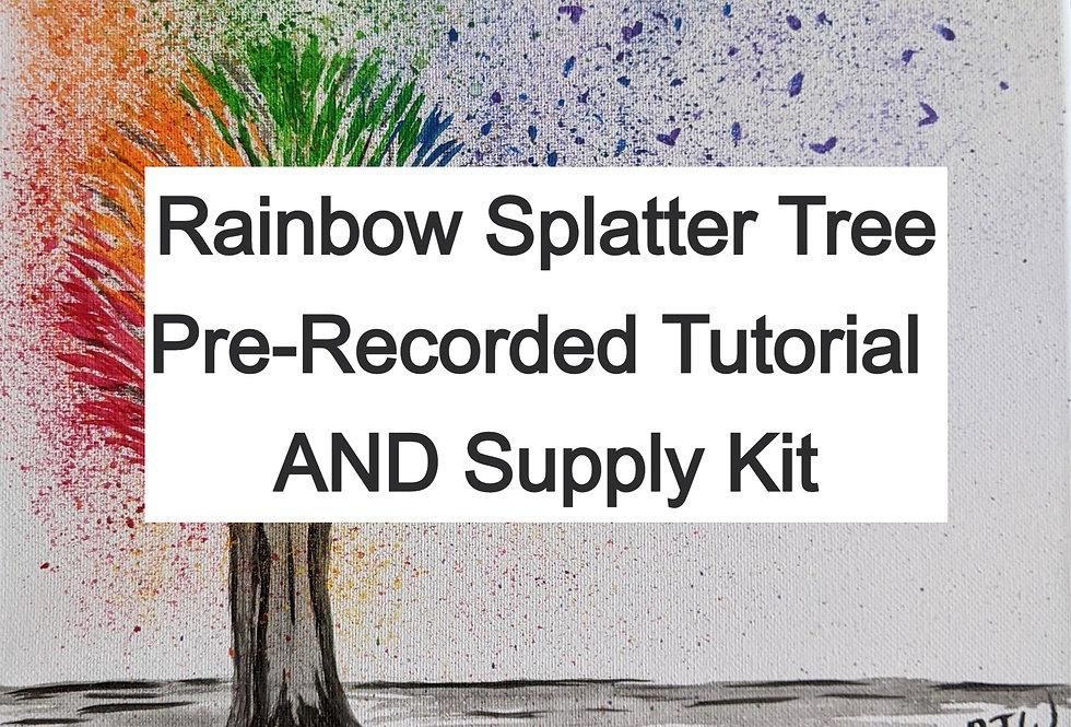 Rainbow Splatter Tree Tutorial AND Supply Kit