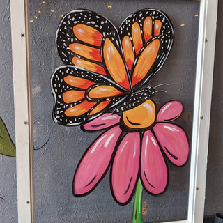 Antique Window - Butterfly on Flower.PNG