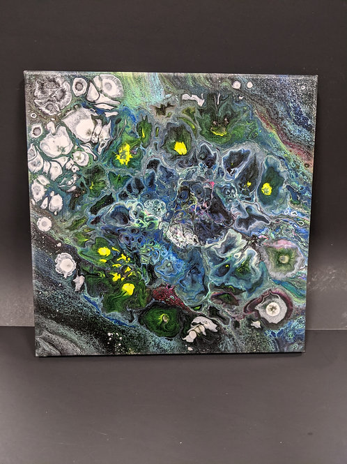 Paint Pour 12x12 canvas