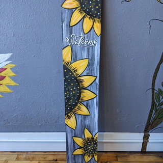 Porch Sign - Sunflower Welcome