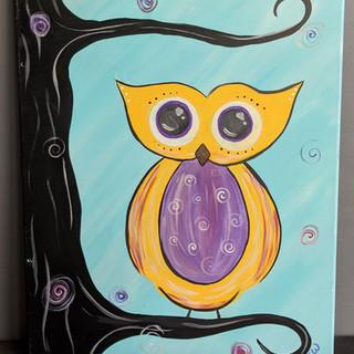 Canvas - Whimsical Owl