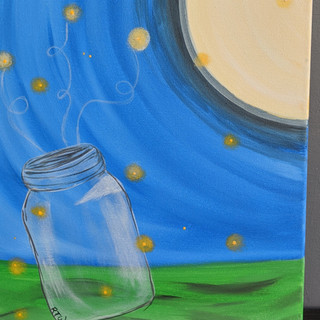 Canvas - Jar & Moon