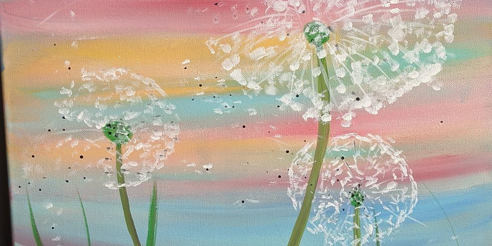 Dandelion Wish 11x14 Canvas