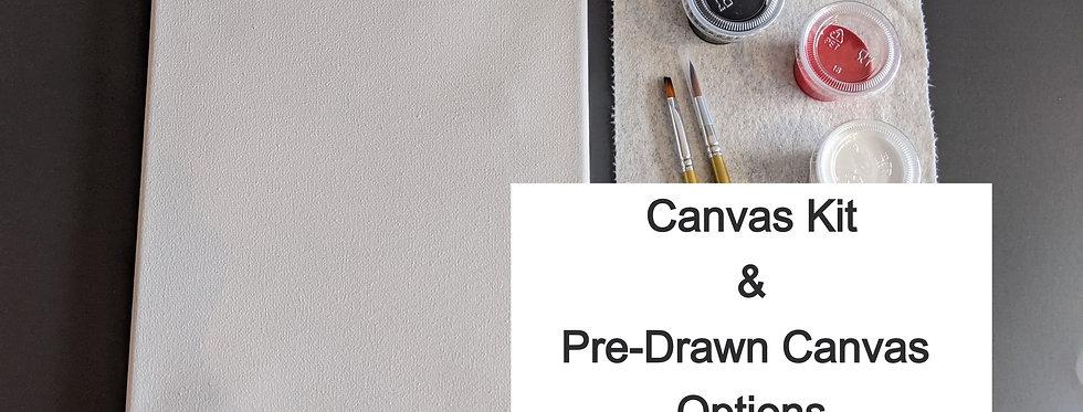 Pre-Drawn Canvas & Kit Options