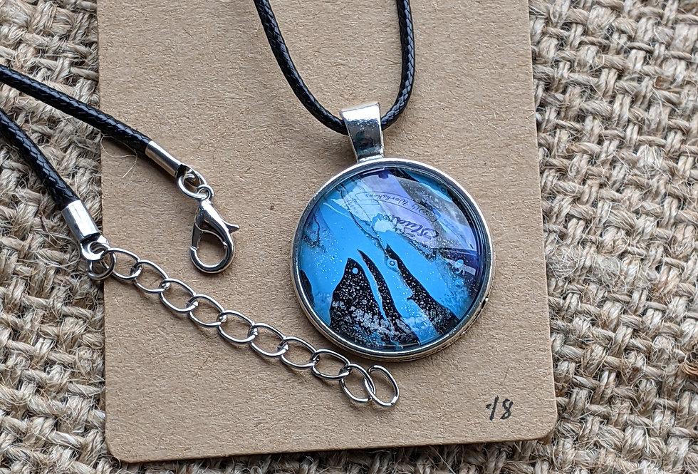 Paint Pour Necklace (#18)