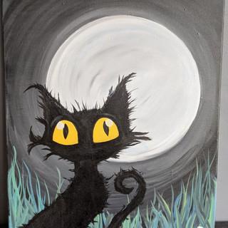 Canvas - Black Cat