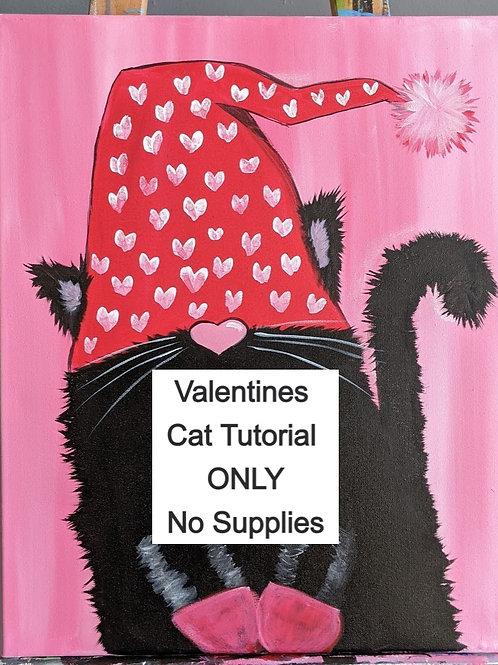 Valentine's Cat - Tutorial Only (No Supplies)