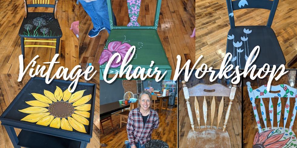 Vintage Chair Chalk Workshop