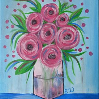 Canvas - Pink Flower Bouquet
