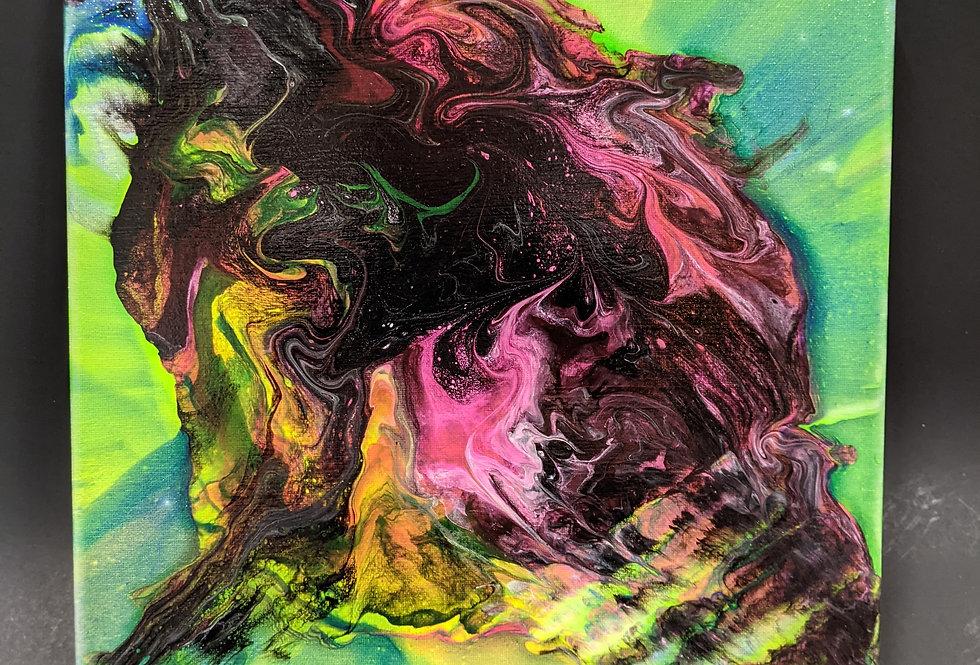 Paint Pour & Spin Art 12x12 canvas