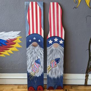 Porch Sign - Patriotic Gnome