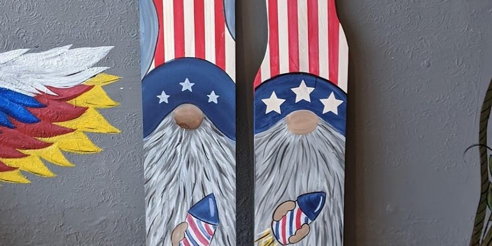 Patriotic Gnome Porch Sign