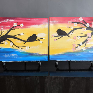 Pair - Birds on a Branch