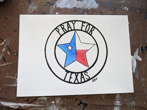 Pray for Texas Postcard