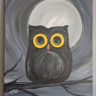 Canvas - Black Owl
