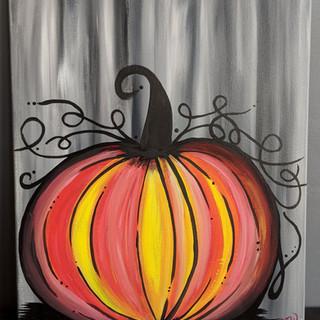 Canvas - Dark & Twirly Pumpkin