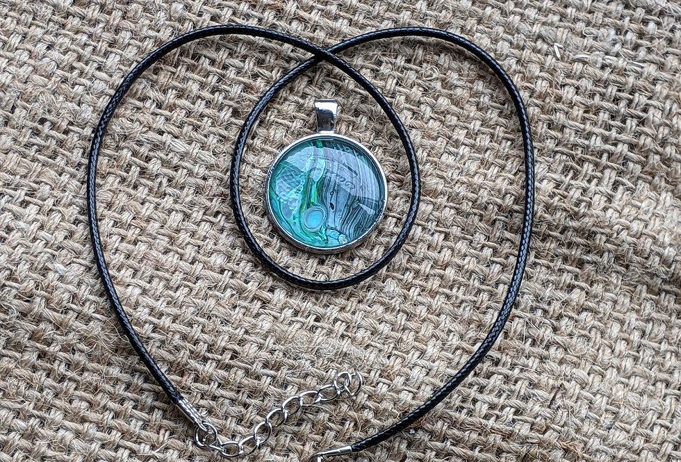 Paint Pour Necklace (#4)