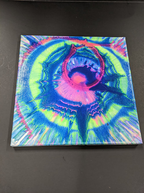 Spin Art 10x10 Canvas