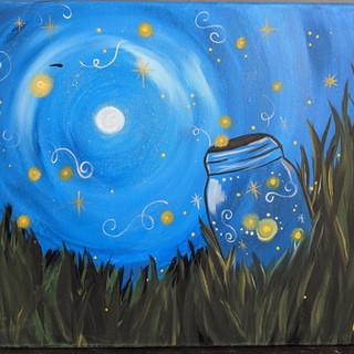 Canvas - Jar of fireflies