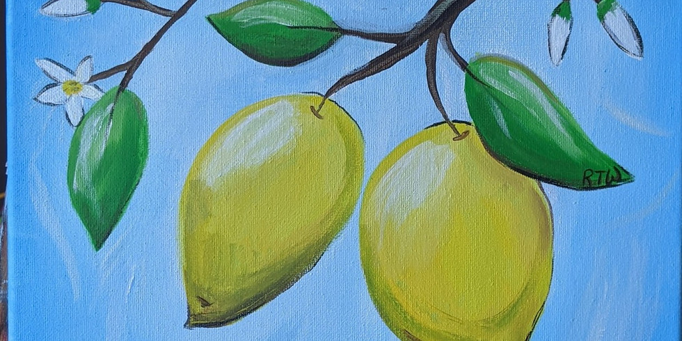 Canvas Painting - Lemons