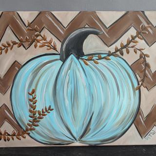 Canvas - Chevron Pumpkin