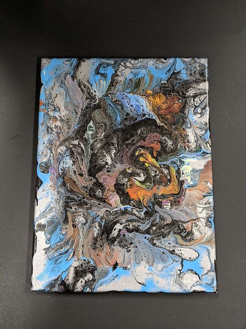 Paint Pour 9x12 Canvas