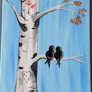 Canvas - love birds