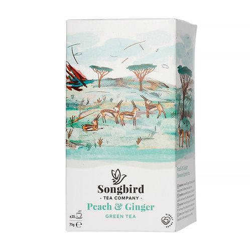 Songbird - Peach & Ginger - 70g sypaného čaje