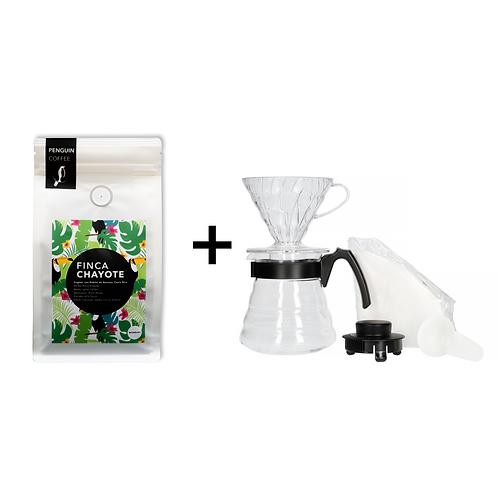 BALÍČEK V60 + 500g výběrové kávy