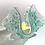 Thumbnail: 'Bejewelled' Aqua Handkerchief Tealight Holder