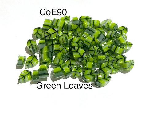 CoE 90 Green Leaves Glass Murrini