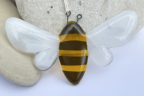 Fused glass bee