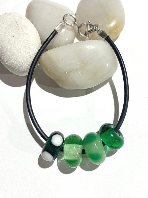 Little Green Bead Bracelet