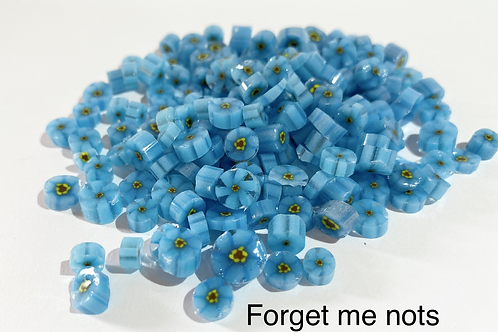 CoE 90 Bright Blue-Forget-Me-Not Glass Murrini for Glass Artists