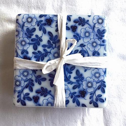 Blue & White Coaster