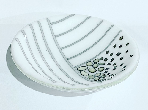 White, Grey and Cream Small Bowl