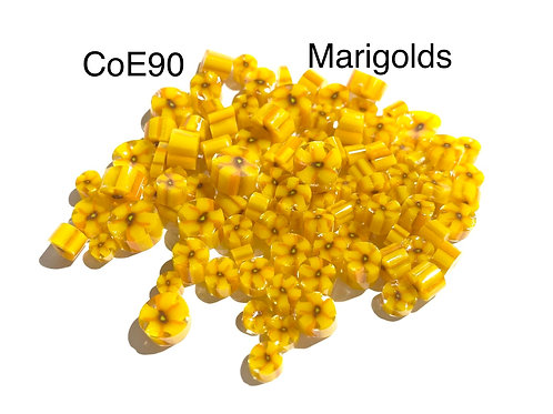CoE90 Marigold Flowers Glass Murrini