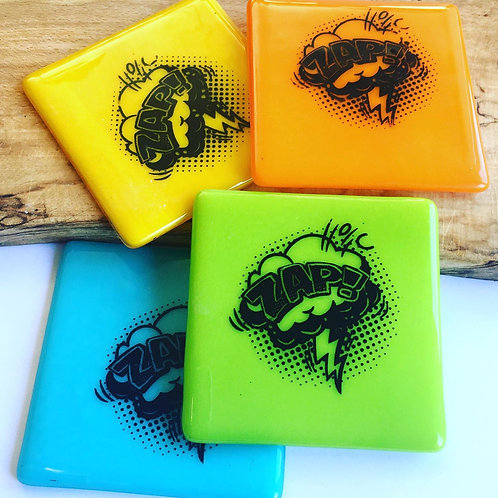 Set of 4 Pop Art Coasters