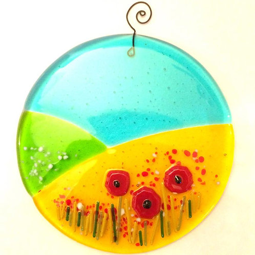 Circular Flower Meadow Panels