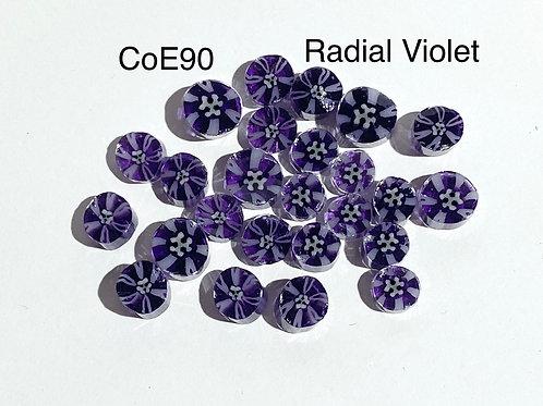 CoE90 Radial Violet Glass Murrini