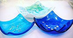 A trio of trinkets... #fusedglass #fused