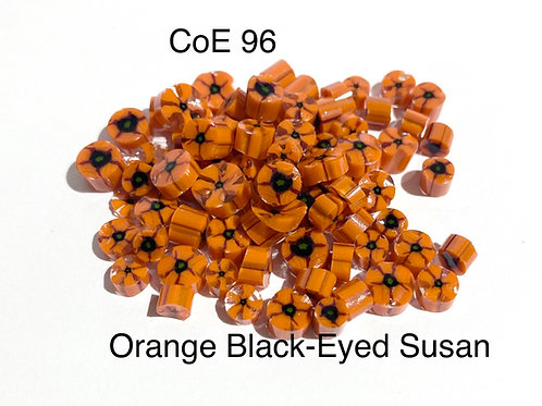 CoE 96 Orange Flower Glass Murrini for Glass Artists
